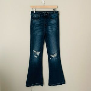 New Label American Eagle Distressed Flare …